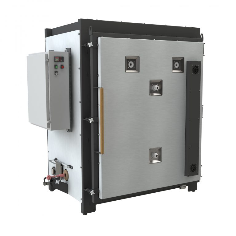 Electric Kiln for ceramics, with gas reduction burner.