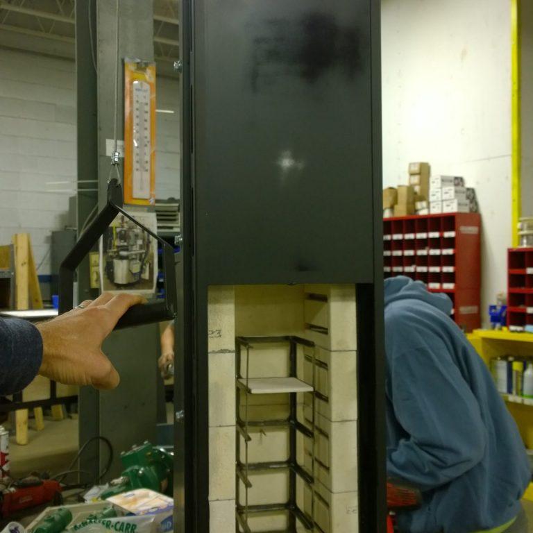 Warddrobe annealer for lab testing.